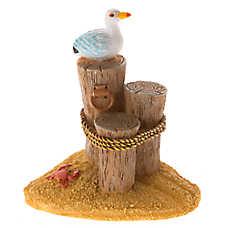 Top Fin® 3 Tier Post with Seagull Aquarium Ornament