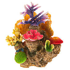 Top Fin® Bright Coral Rock Aquarium Ornament