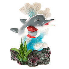 Top Fin® Dolphin with Lifesaver Aquarium Ornament