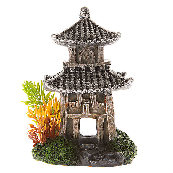 Top Fin® Silver Pagoda Aquarium Ornament | fish Ornaments ...