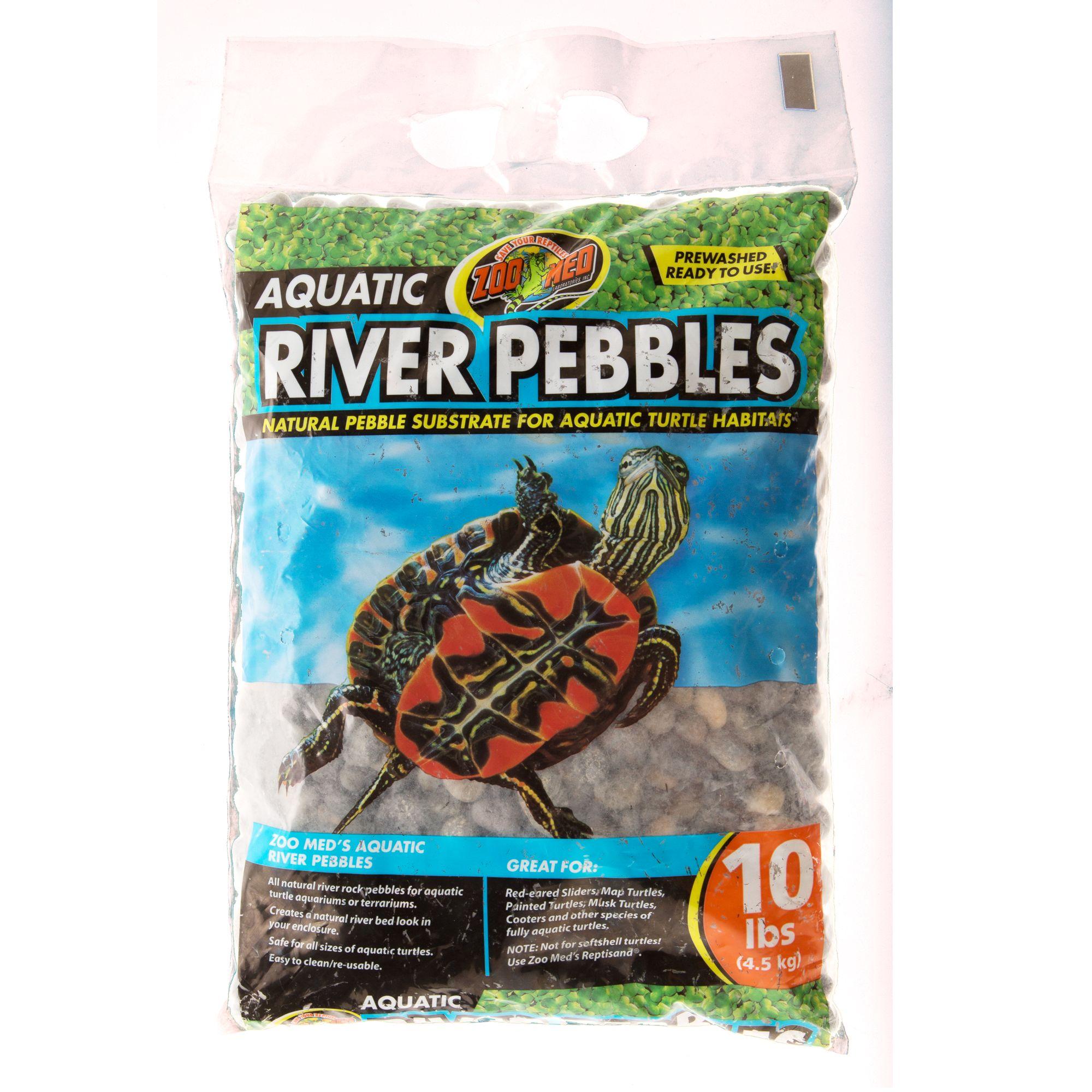Zoo Med Aquatic River Pebble Reptile Substrate Bedding Petsmart
