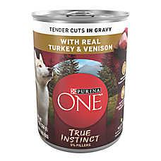 Purina ONE® Smartblend® True Instinct Adult Dog Food - Turkey & Venison in Gravy