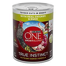 Purina ONE® Smartblend® True Instinct Adult Dog Food - Chicken & Duck in Gravy