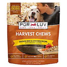 Pur Luv™ Harvest Chews Dog Treat - Brown Rice & Chicken