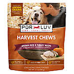 Pur Luv™ Harvest Chews Dog Treat - Brown Rice & Turkey
