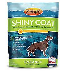 Zuke's® Enhance Shiny Coat Dog Chews - Grain Free, Skin & Coat, Chicken & Chickpea