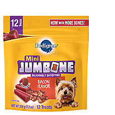 PEDIGREE® JUMBONE® Mini Dog Treat - Bacon