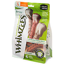 WHIMZEES Brushzees Large Dental Dog Treat - Natural, Grain Free