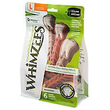 WHIMZEES Brushzees Large Dental Dog Treat - Natural, Grain Free