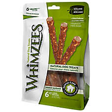WHIMZEES Veggie Sausage Large Dog Treat - Natural, Vegetarian, Gluten Free