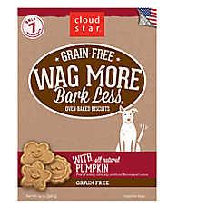 Cloud Star® Wag More Bark Less® Dog Treat - Natural, Grain Free, Pumpkin
