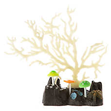 Top Fin® Glow-in-the-Dark Glowing Coral White Aquarium Ornament
