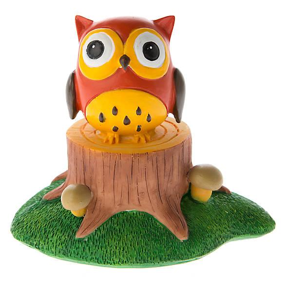 Top fin owl on stump aquarium ornament fish ornaments for Petsmart fish decor