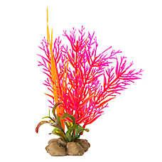 Top Fin®  Fuchsia and Orange Artificial Aquarium Plant