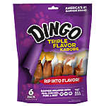 Dingo Triple Flavor Skewers Dog Treat - Pork & Chicken