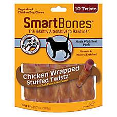 SmartBones® Chicken Wrapped Stuffed Twistz with Pork Dog Treat