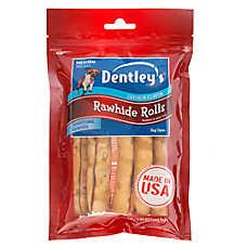 Dentley's® Rawhide Rolls Medium Dog Treat - Chicken