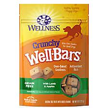 Wellness® WellBars Crunchy Dog Treat - Grain Free, Natural, Lamb & Apples