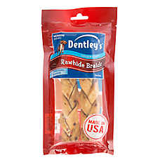 Dentley's® Rawhide Braids Medium Dog Treat - Chicken