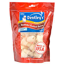 Dentley's® Rawhide Knotted Bones Small Dog Treat