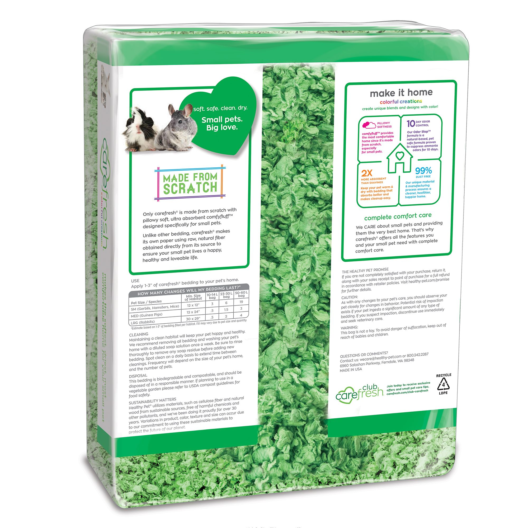 carefresh bedding pets at home