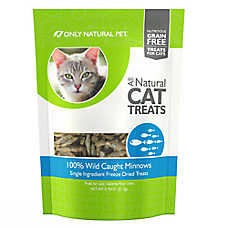 Only Natural Pet Wild Minnows Cat Treat - Natural, Freeze Dried, Grain Free