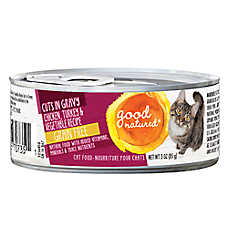 Good Natured™ Cat Food - Natural, Grain Free, Chicken, Turkey & Vegetable, Cuts in Gravy