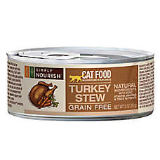Simply Nourish™ Cat Food - Natural, Grain Free, Turkey Stew