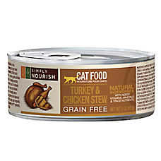 Simply Nourish™ Adult Cat Food - Grain Free, Turkey & Chicken Stew
