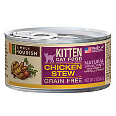 Simply Nourish™ Kitten Food - Natural, Grain Free, Chicken Stew