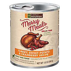 Simply Nourish™ Merry Meals Adult Dog Food - Natural, Grain Free, Turkey & Sweet Potato