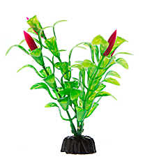 Top Fin® Green Leaves with Flowers Aquarium Plant