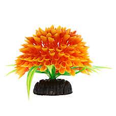 Top Fin® Long Orange Flower Ball Aquarium Ornament