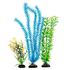 Top Fin® Green and Blue Tie Die Aquarium Plant Value Pack