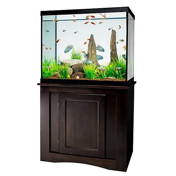 Marineland 56 gallon led aquarium ensemble fish for Petsmart fish aquariums
