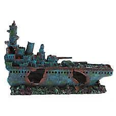 Top Fin® Battleship Aquarium Ornament