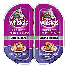 WHISKAS® Perfect Portions® Cuts In Gravy Cat Food - Salmon & Chicken