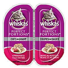 WHISKAS® Perfect Portions® Cuts In Gravy Cat Food - Whitefish & Tuna