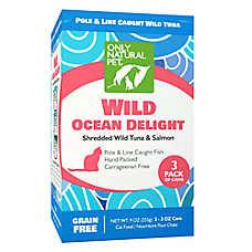 Only Natural Pet Cat Food - Natual, Grain Free, Ocean Delight Tuna & Salmon, 3 Pack