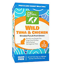 Only Natural Pet Cat Food - Natual, Grain Free, Wild Tuna & Chicken, 3 Pack
