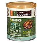Simply Nourish™ Dog Food - Natural, Grain Free, Turkey & Duck Stew