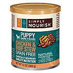 Simply Nourish™ Puppy Food - Natural, Grain Free, Chicken & Beef Stew