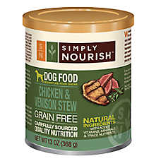 Simply Nourish™ Dog Food - Natural, Grain Free, Chicken & Venison Stew