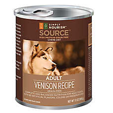 Simply Nourish™ Source Adult Dog Food - Grain Free, High Protein, Venison