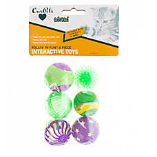 OurPets® Rollin' N Fun 6 Pack Cat Toy