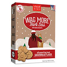 Cloud Star® Wag More Bark Less® Dog Treat - Natural, Gingerbread
