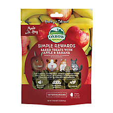 Oxbow Simple Rewards Apple and Banana Small Animal Treats