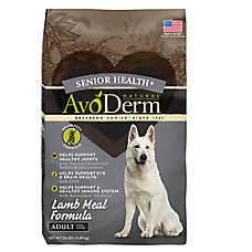AvoDerm® Senior Health+ Adult Dog Food - Natural, Grain Free, Lamb Meal