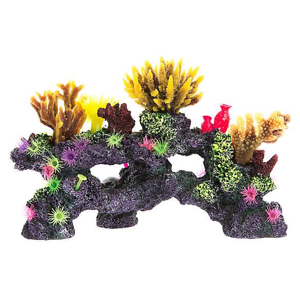 Top fin coral reef aquarium ornament fish ornaments for Petsmart fish decor