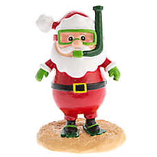 Top fin pet holiday snorkeling santa aquarium ornament fish ornaments petsmart - Fish tank christmas decorations ...